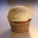 Kokos auf Karotte Cupcake